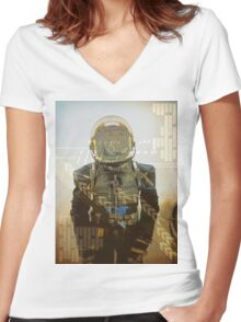 astronaut Women's Fitted V-Neck T-Shirt
