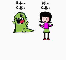 Before Coffee and After Coffee Womens Fitted T-Shirt