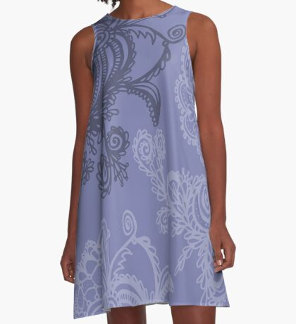 floral abstract A-Line Dress