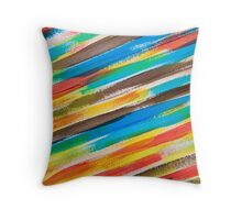 Painted stripes Throw Pillow
