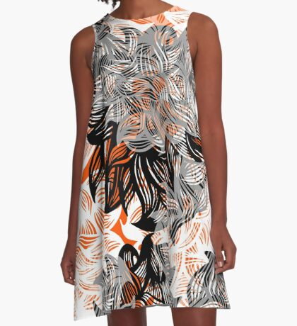 floral abstraction A-Line Dress