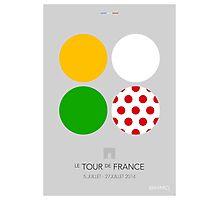The Jerseys : Tour de France 2014 Photographic Print