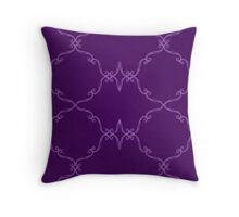Grungy Purple Scroll Design Throw Pillow