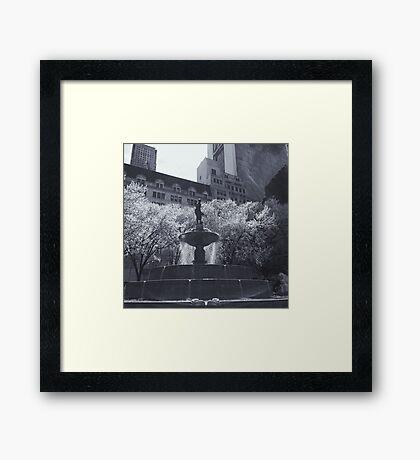 Plaza Fountain Framed Print