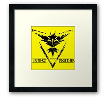 Team Instinct Stands Together! (Alt) Framed Print