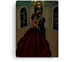 Dancing in the candlelight Canvas Print