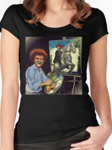Steve Brule paints Women's Fitted Scoop T-Shirt