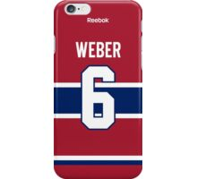 Montreal Canadiens Shea Weber Jersey Back Phone Case iPhone Case/Skin