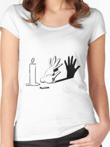 Shadow Rabbit by lightiilusions.com Women's Fitted Scoop T-Shirt