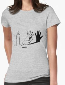 Shadow Rabbit by lightiilusions.com Womens Fitted T-Shirt