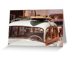 Surfin' USA - Surfboard and Woody Greeting Card