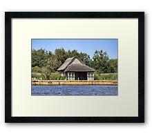 Horsey mere thatched cottage Framed Print