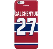 Montreal Canadiens Alex Galchenyuk Jersey Back Phone Case iPhone Case/Skin