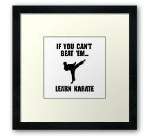 Learn Karate Framed Print