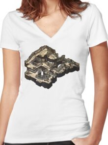 Dust 2 Isometric Map Women's Fitted V-Neck T-Shirt