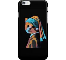 Cat with a Pearl Earring - electronic remix iPhone Case/Skin