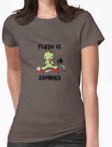 Flesh is for Zombies Womens Fitted T-Shirt