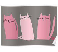 Three Little Pink Cats Poster