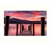 DERWENTWATER SUNSET Art Print