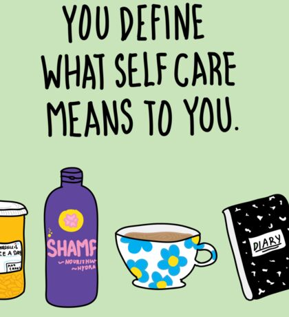 Self Care Sticker