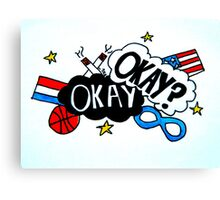 Okay, Okay?- TFIOS  Canvas Print