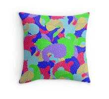 Multicolor Paisleys   Throw Pillow