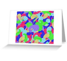 Multicolor Paisleys   Greeting Card