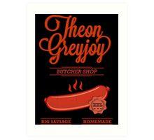 Theon GreyJoy Butcher Shop Art Print
