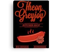 Theon GreyJoy Butcher Shop Canvas Print