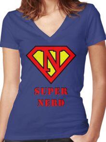 Super Nerd Women's Fitted V-Neck T-Shirt