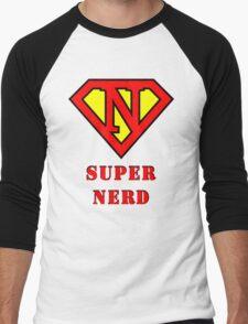 Super Nerd Men's Baseball ¾ T-Shirt