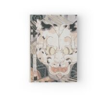Utagawa Yoshifuji - Cats  Fifty Three Stations Of Tokaido 1852. Cat portrait: cute cat, kitten, kitty, cats, pets, wild life, animal, smile, little, kids, baby Hardcover Journal