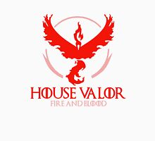 House Valor (GOT + Pokemon GO) Red text Unisex T-Shirt
