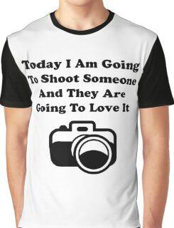 Shoot Someone Camera Graphic T-Shirt