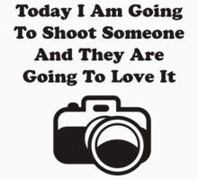 Shoot Someone Camera Kids Tee