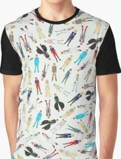 Floating Bowies Pattern Graphic T-Shirt