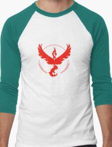 House Valor (GOT + Pokemon GO) White text Men's Baseball ¾ T-Shirt