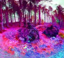 Nature falls into colour Sticker