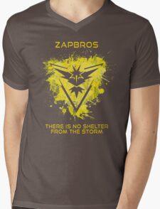 Zapbros Mens V-Neck T-Shirt