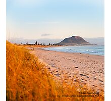 Mount Maunganui beach scene for covers, smartphone cases  Photographic Print