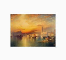 Thomas Moran - View Of Venice 1895. Urban landscape: city view, streets, building, house, Venice , cityscape, architecture, construction, travel landmarks, panorama garden, buildings Unisex T-Shirt