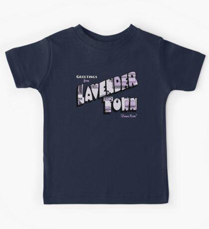 Greetings from Lavender Town Kids Tee
