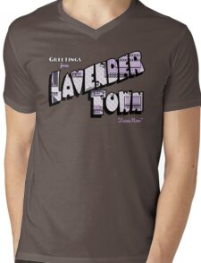 Greetings from Lavender Town Mens V-Neck T-Shirt