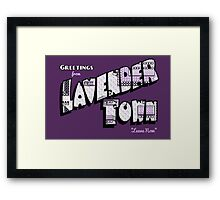 Greetings from Lavender Town Framed Print