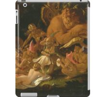 Sir Joseph Noel Paton - Puck And Fairies, From A Midsummer Night S Dream 1850. Fairy painting: fairy, fairies, nymph, nymphs, child, baby , dwarves, dwarf , elf , elves, goblin  iPad Case/Skin
