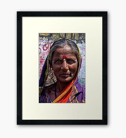 Hampi Pilgrim. Framed Print