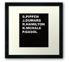 NBA Sidekicks  Framed Print