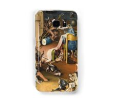 Hieronymus Bosch - The Garden Of Earthly Delights Art Fragment Painting: eden, hell, beauty, adam, retro animals, birds, cool love, trendy gift, celebration, vintage monster, doodle, birthday, fantasy Samsung Galaxy Case/Skin