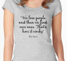 Grey's Anatomy - We lose people Women's Fitted Scoop T-Shirt