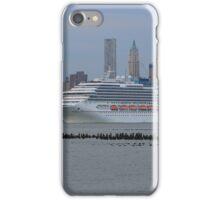 Cruise Ship Carnival Splendor on the Hudson River iPhone Case/Skin